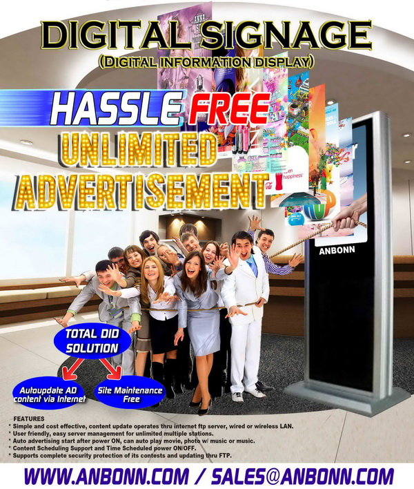 Digital Signage - Hassle Free Unlimited Advertisement